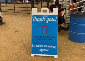 The Rice partnership sign